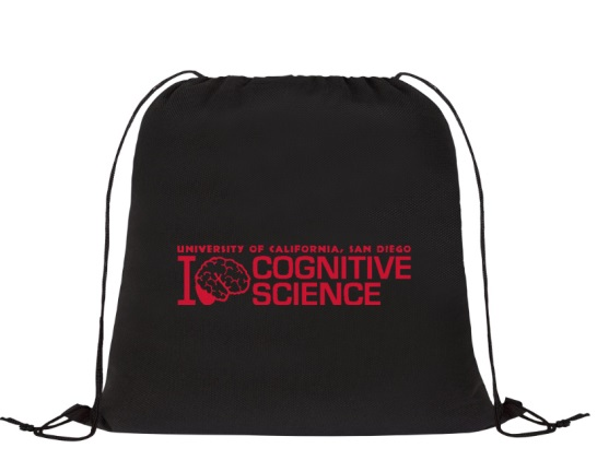 Black Cognitive Science drawstring bag